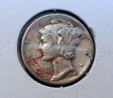Haunted Blood Stained Lady Liberty US 1943 Dime - Paranormal Estate Coin