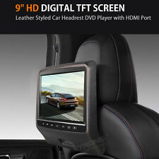 Leather-Style Pillow Headrest In Car Multi-media DVD Player Game HDMI USB SD AUX