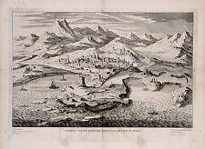 Antique map, Gezicht van de stadt en haven van Tripolis in Syrie