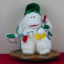 Plush White Gorilla Ape Christmas Lights Holiday Xmas Tree Hat Toy