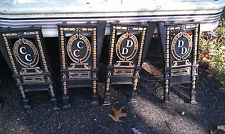 SALE! 1 PAIR OF RARE ANTIQUE CAST IRON THEATER SEAT ISLE ENDS W/ RAISED LETTERS