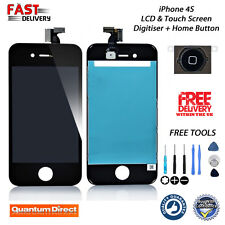 Replacement iPhone 4S 4GS Retina LCD & Digitiser Assembly with Ear Mesh - BLACK