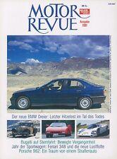 1991 MOTOR REVUE JAHRBUCH YEARBOOK FERRARI 348 PORSCHE 962 BUGATTI TYP 40