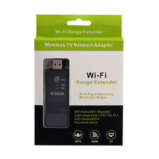 300Mbps Universal Wireless TV Wifi Adapter Network Card RJ-45 Wi-fi WPS Repeater