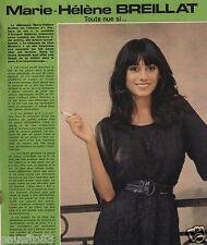 Coupure de presse Clipping 1976 Marie Hélène Breillat  (1 page)