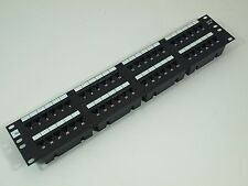 Cat 5/5E 48 Port In Line Coupler/Feed Thru Patch Panel ADC ADCPP48505 RJ45-RJ45