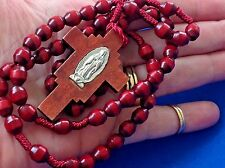 Wood Our Lady of GUADALUPE Cord 5 Decade Rosary Devotion Protection Healing
