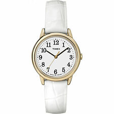 Timex TW2P68900, Women's Easy Reader, White Leather Watch, Date, TW2P689009J