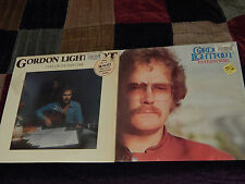 """Gordon Lightfoot RECORD Lot of 2) Cold on the Shoulder + Endless Wire) VINYL 12"""""""