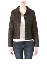 Miraclebody Rebel Brown Denim Coated Jacket Size XL -NWT Retail $156.00
