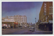 Wishkah Street Cars Drug Store Aberdeen Washington 1950s postcard