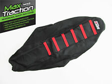 HONDA CRF250 CRF250R 2012 2013 RIBBED SEAT COVER BLACK WITH RED STRIPES RIBS