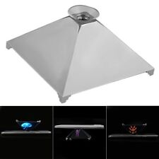 3D Holographic Pyramid Projector Hologram Display Stand w/ Chuck For Smart Phone