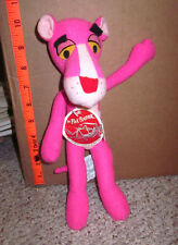 PINK PANTHER toy TV cartoon vtg 1978 dayglo MGM plush doll Mighty Star w/ tags