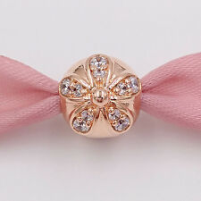 GENUINE PANDORA GIFT POUCH & ROSE GOLD DAZZLING DAISY CLIP/CHARM  S 925