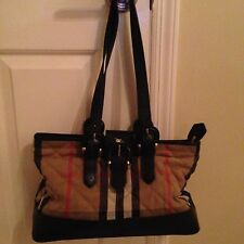 BURBERRY Shoulder Bag Canvas And Leather with Matching Wallet