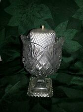 CONTEMPORARY CRYSTAL Pedestal PINEAPPLE CANDY DISH Candle holder 2 lb 12.55 Oz.