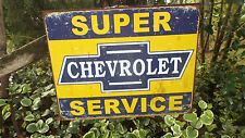 Vintage Signs Chevrolet Chevy GM Collectible Advertising Tin Metal Sign
