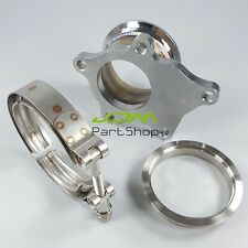"""T3 T3/T4 5 Bolt Turbo Downpipe Flange to 2.5"""" V Band 64MM Conversion Adaptor Kit"""