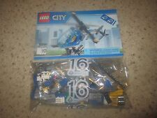 LEGO HELICOPTER with Minifigure - NEW - 60097 City Square Pilot TV Chopper NEW