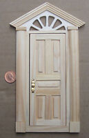 1:12th External Wooden Door & Portico Dolls House Miniature Fairy Accessory 499