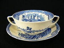 Johnson Bros Old Britain Castles blau Suppentasse 2tlg.
