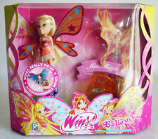 VERY RARE 2010 WINX CLUB STELLA BELIEVIX MINI MAGIC MOVING WINGS NEW MISB !