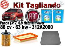 KIT TAGLIANDO FIAT PANDA (312) 0.9 NATURAL POWER* OLIO SELENIA GAS 5W40 + FILTRI