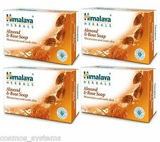 HIMALAYA Herbals Moisturizing Almond & Rose Soap Soaps 75g x 4 Pack