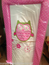 Deluxe baby babies changing mat mats pink white spots owls owl pink girl girls