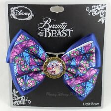 New Disney Beauty & The Beast Belle Stained Glass Cosplay Costume Hair Bow Clip