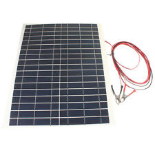 20W 12V Charger Foldable Waterproof Solar Panel For Camping Hiking New