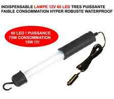 LAMPE 12V 75W 60 LED HYPER PUISSANTE! RAID JEEP LAND RANGE DEFENDER DISCOVERY!