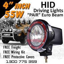 HID Xenon Driving Lights - Pair 4 Inch 55w EURO Beam 4x4 4wd Off Road 12v 24v