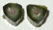7.47ct SET 2 BRAZIL NATURAL WATERMELON TOURMALINE SLICES