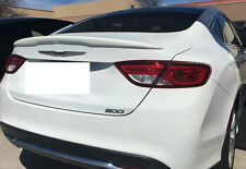 FOR 2015-2017 CHRYSLER 200 UN-PAINTED Custom-Style Rear Lip Spoiler NO DRILLING!