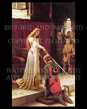 Edmund Leighton art prints lot Accolade God Speed medieval knight chivalry queen