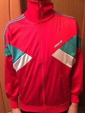 Adidas Vintage Red Striped Track Top Polyester Zip Jacket Size - Small / D5