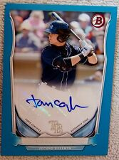 Tampa Bay Rays Thomas Tommy Coyle Signed 2014 Bowman Blue Auto Card #091/500