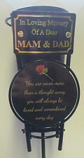 In Loving Memory of a dear MAM AND DAD Grave Vase Tribute Ornament BCKYAMM
