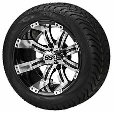 Set of ITP 12 SS LSI HD Aluminum Alloy Golf Cart Car Rims Wheels & Tires Mounted