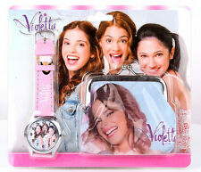 Free shipping 1set violetta Wristwatch watch and Purses Wallets Children Gifts