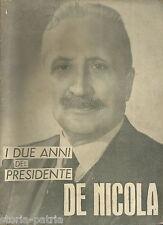STORIA POLITICA ITALIANA_DE NICOLA_NAPOLI_TORRE DEL GRECO_I DE FILIPPO_CROCE_'48