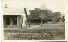 RPPC NY Port Leyden Railroad Depot Station Main St frm Depot and Hotel Lewis Co.