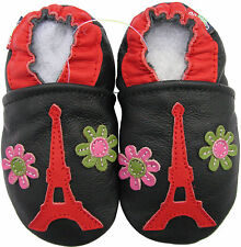 carozoo Eiffel tower flower 12-18m new soft sole leather baby shoes