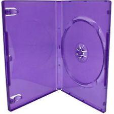 100 unico standard Viola DVD Case 14 MM DORSO vuoto sostituzione COVER HQ AAA