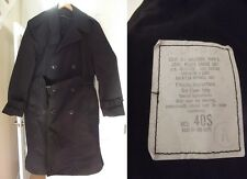 Trench Coat RAINCOAT Rain Mens LARGE L BLACK 40 military short NICE! army