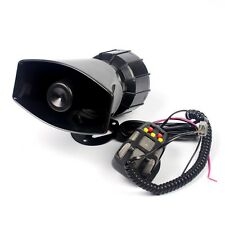 100W 7 Sound Mode Car Warning Siren Alarm W/ MIC Police Ambulance Loudspeaker