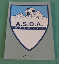 N°385 BADGE ECUSSON VALENCE ASOA D2 PANINI FOOT 97 FOOTBALL 1996-1997