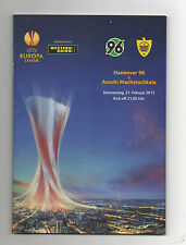 Orig.PRG   Europa League  12/13   HANNOVER 96 - ANSCHI MACHATSCHKALA  !!  SELTEN